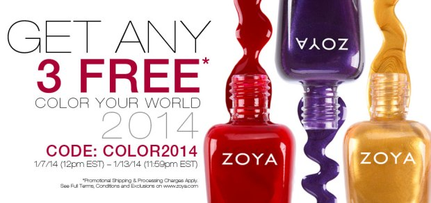 3 Zoya Polishes for $12 Shipped!