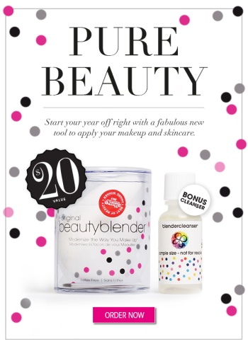Glossybox USA January 2014 Spoiler: Beauty Blender Pure!
