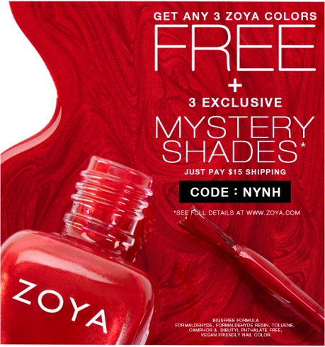 "Zoya ""free polishes"" are back!"